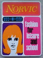 VINTAGE 1960s NORVIC FASHION STAND-UP SHOP DISPLAY ADVERTISING CLOTHES SHOES ETC