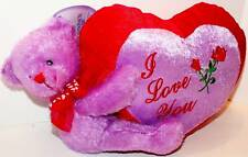 Bear Plush with Velour I Love You Hart! Stuffed Green!