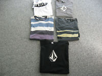 VOLCOM Men's T-Shirts, All Sizes,Cotton, Crew Neck, Short or Long Sleeve, NWT