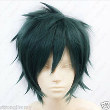 HOT@The Devil is a Part-Timer! Mao Sadao Short Dark Green Cosplay Wig R/C