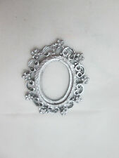 Dollhouse Miniature Unfinished Metal Frame Oval #6