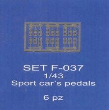 ABC ACCESSORI-SPARE PARTS SETF037 PEDALIERE SPORTIVE/PEDALS FOR SPORT CARS (6 PC