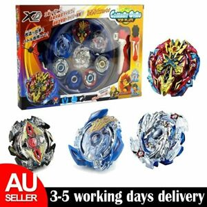 4x Boxed bayblade Beyblade Burst Set With Launcher Arena Metal Fight Battle AU
