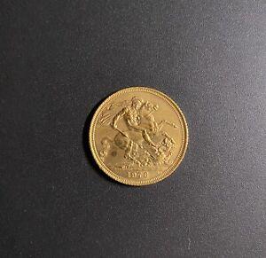 Moneta Sterlina d'Oro Regina Elisabetta II Anno 1976