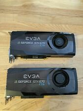 Pair of EVGA GeForce GTX 670 FTW 2GB GDDR5 Graphic Cards with backplates