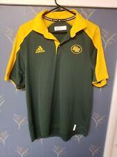 Adidas EDMONTON ESKIMOS Green Collared Polo Shirt Size Men's Medium M