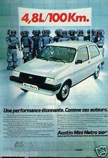 Publicité advertising 1981 Austin Mini Metro