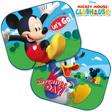Two Disney MM CLUBHOUSE Blinds Car Window Sun Shades Mesh Kids Baby Children New