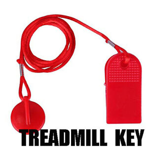 RED MAGNETIC TREADMILL FITNESS RUNNING MACHINE SAFETY KEY REPLACEMENT TAG UK