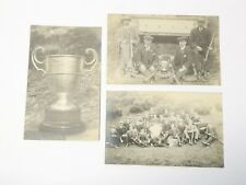 More details for 3 x 1905 rp mini rifle club newcastle chronicle cup houghton le spring postcard