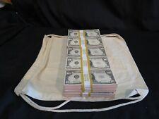 More details for prop novelty money filler packs 25 x $10k ($250k) solid blocks.single sided