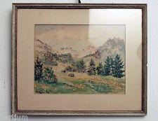 Elsa Bäuerle-Feld 1910-1989 - Alpenlandschaft