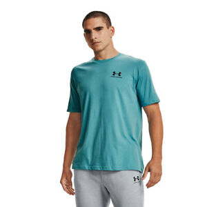 Under Armour Mens Sportstyle Left Chest Short Sleeve T Shirt Tee Top Blue Sports