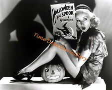Halloween Pin-up Betty Grable Reading Spooky Stories - 1941- Vintage Photo Print