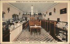 Fergus Falls MN Larsen's Caf' Interior c1930 Postcard