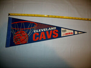"""Cleveland Cavaliers CAVS 1980's 23"""" x 9"""" Mid Size SGA Pennant Bausch & Lomb"""