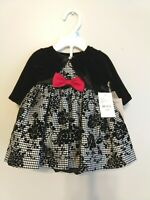 3 PCS Set Special Occasion Baby Girl Cute Dress Outfits 3-6m - US SELLER