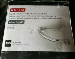 Delta Faucet 41316 Traditional Corner Shelf / Assist Bar, Polished Chrome S3