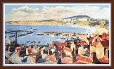"""'SCARBOROUGH VIEW' Cross Stitch Pattern 19""""x11"""" Yorkshire/Detailed/England NEW"""
