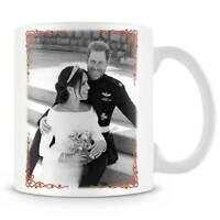 HRH Prince Harry & Ms Meghan Markle Wedding Day Black & White - Coffee Mug