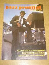 JAZZ JOURNAL INTERNATIONAL VOL 40 #6 1987 JUNE NATHAN DAVIS KENNY KIRKLAND