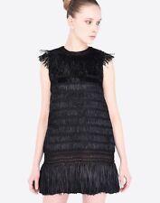 Brand New VALENTINO Raffia Fringe Cocktail Sexy Dress Gown Size XS $3950 CURRENT
