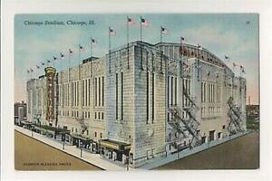 Chicago Stadium-Chicago Illinois-Linen Postcard