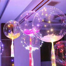 """Colorful Christmas Decal Led String Light With Transparent Helium Balloons 18"""""""
