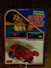 Modellino Stunt Cycle Moto Friction power Rossa Giocattolo Anni '80