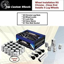 C1709LHD Wheel Installation Kit Chrome Lugs Nuts M14x1.5 fit Dodge Magnum 05-08