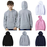 Kids Baby Boys//Girls Solid Hoodie Sweatshirt Pullover Jumper Hooded Coat Tops