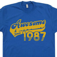 Awesome Since 1987 T Shirt 30th Birthday Gift Funny Born Made In Vintage Novelty