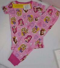NEW NWT GYMBOREE Gymmies size 2T Disney Princesses Ariel Pink PJ's Belle Tangled