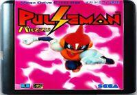 Pulseman (1994) 16 Bit Game Card For Sega Genesis / Mega Drive System
