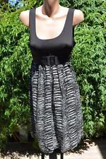 CROSSROADS High Bodice Black DRESS w BELT Size S-12 NEW.rrp is $39.95