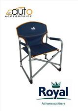 Royal Caravan And Camping folding Aluminium Directors Chair fishing BBQ