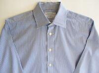 Gorgeous CHARLES TYRWHITT Blue & White Check DRESS SHIRT - 15 1/2 - 35 SLIM FIT