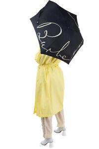 RRP €135 BURBERRY Telescopic Folding Umbrella Logo Print Packable