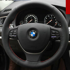 For BMW 5 Series GT DIY Hand-stitched Car Steering Wheel Cover Black Leather