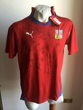 Maglia calcio puma Czech Republic football shirt jersey trikot signed 2010