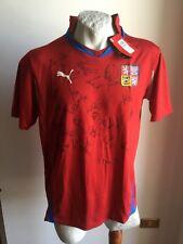 Maglia calcio puma Czech Republic football shirt jersey trikot signed 2010