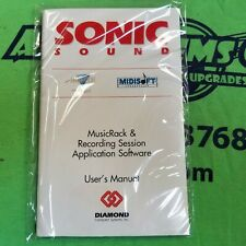 SONIC SOUND MUSICRACK & RECORDING SESSION APPLICATION SOFTWARE - MS-DOS