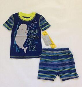 BNWT Disney Finding Dory Short Sleep Set Blue Pajamas PJs Sz 5 Bailey Whale