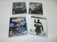 Call of Duty Set of 4 Sony Playstation 3 PS3 Games Complete Ghosts Black Ops 1 2