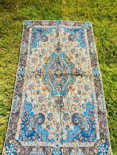 Exquisite Blue Gold Turkish Prayer Rug Musalah US Seller! Buy 2 for $19.99 each!