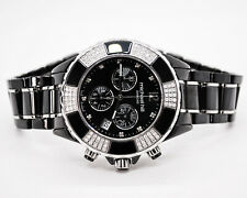 Mens Classic Black Watch Michael Hill/Mens Diamond Set Ceramic Watch