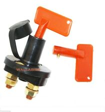 Auto Battery Disconnect Switch Master Cut-off Quick Kill with 2 Removable Key