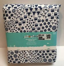 Pillowfort Fetching Florals 3 Piece TWIN Sheet Set NEW WITH TAGS