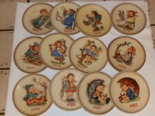 12 Goebel Hummel Colorful Annual Plates 1970s 1980s 12 Collector Plates