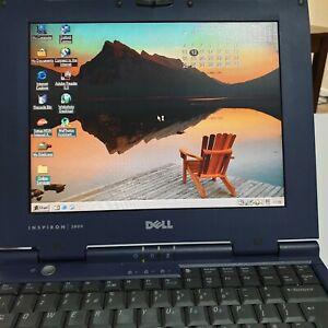 Windows 98SE Dell Inspiron 3800 Vintage Laptop Centronics, Parallel,  RS32 Ports